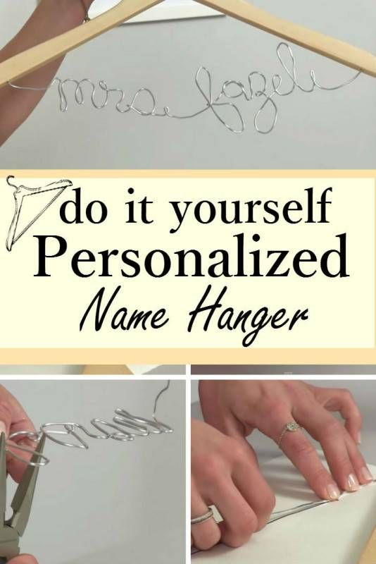 Add personal touch to your big day with charming diy name hanger add personal touch to your big day with charming diy name hanger solutioingenieria Images