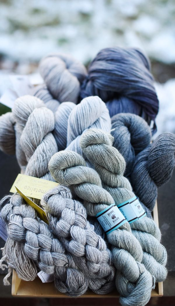 Shades (a book-to-come of all grey yarn!) -- my color!   Delicious ...