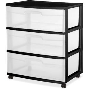 large plastic storage containers with drawers