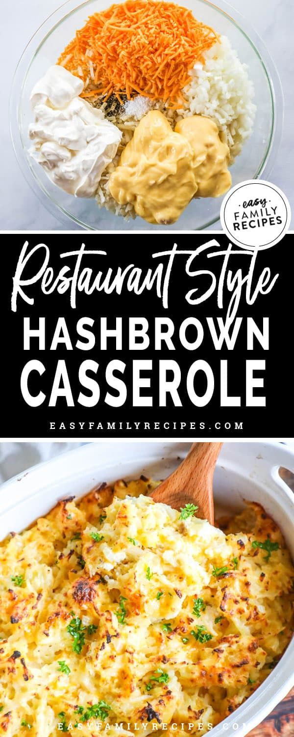 The BEST Cracker Barrel Hashbrown Casserole · Easy Family Recipes