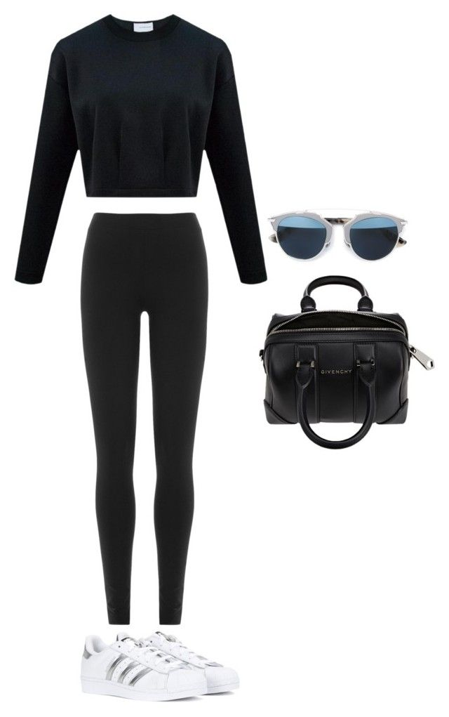 """""""Untitled #458"""" by maritzawaffles on Polyvore featuring DKNY, adidas, Givenchy, Christian Dior, women's clothing, women, female, woman, misses and juniors"""