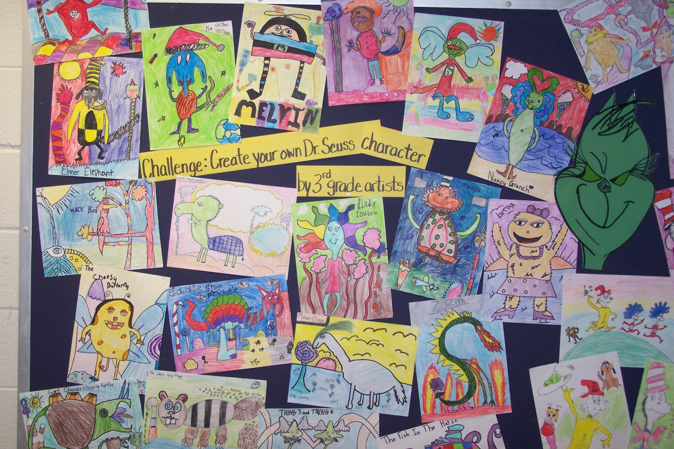 3rd Grade Create Your Own Dr Seuss Character