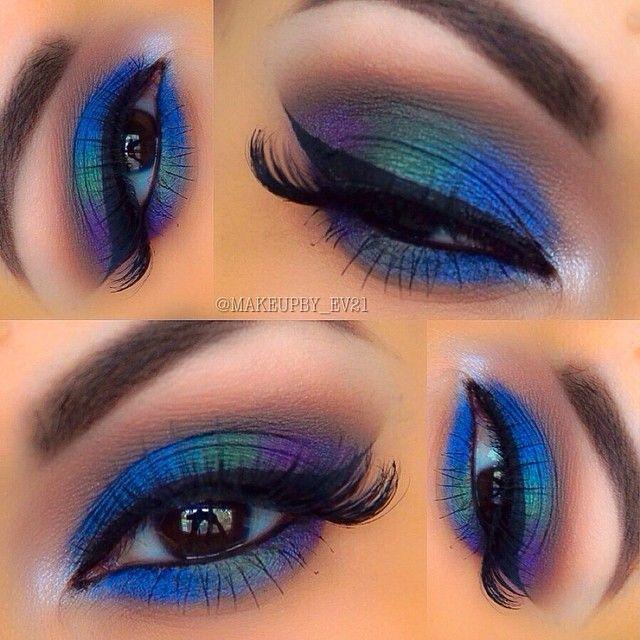 Eye Makeup Peacock Looks Amazing Eyes Look Inspired Makeup Purple