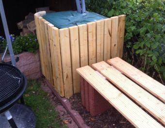 Regentonne Mit Holz Verkleiden Holzverkleidungregentonne