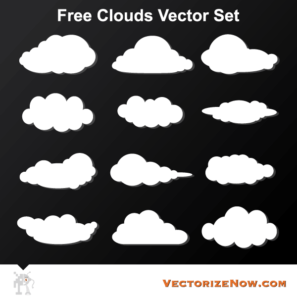 Free Cloud Vector Graphics Download Free Vector Art Cloud Vector Free Vector Art Free Cloud