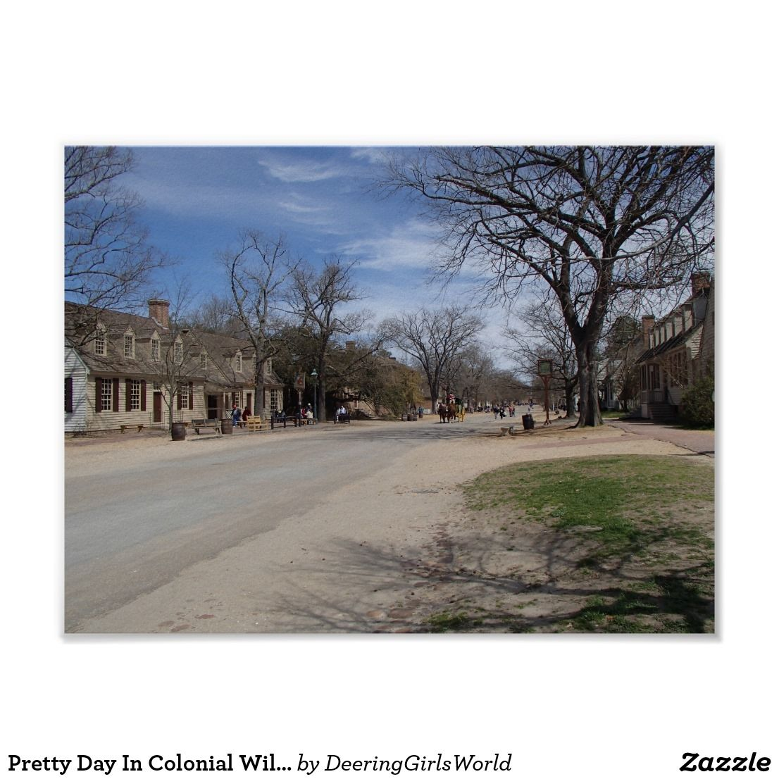 Pretty Day In Colonial Williamsburg, VA Poster