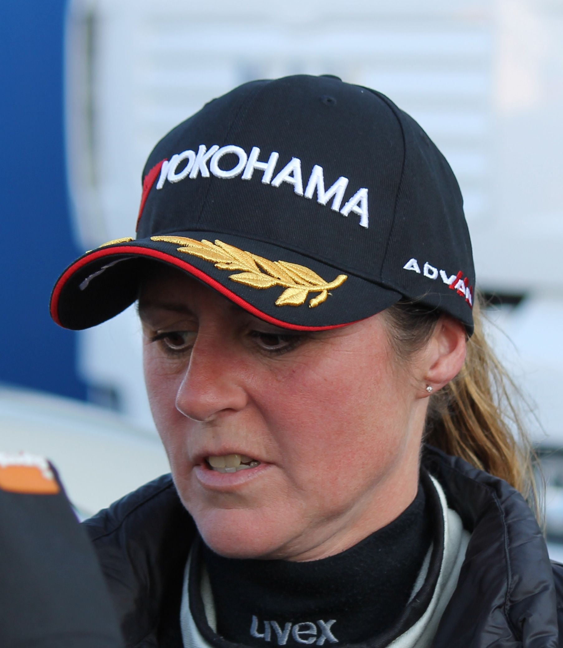 Sabine Schmitz nach dem Training zum WTCC-Rennen 2015 ...