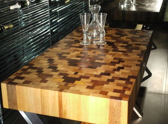 Reclaimed Butcher Block butcher block table tops boose | beautiful designer butcher block