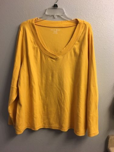 Fashion Bug- Gold Knit Shirt- 26/28W | eBay