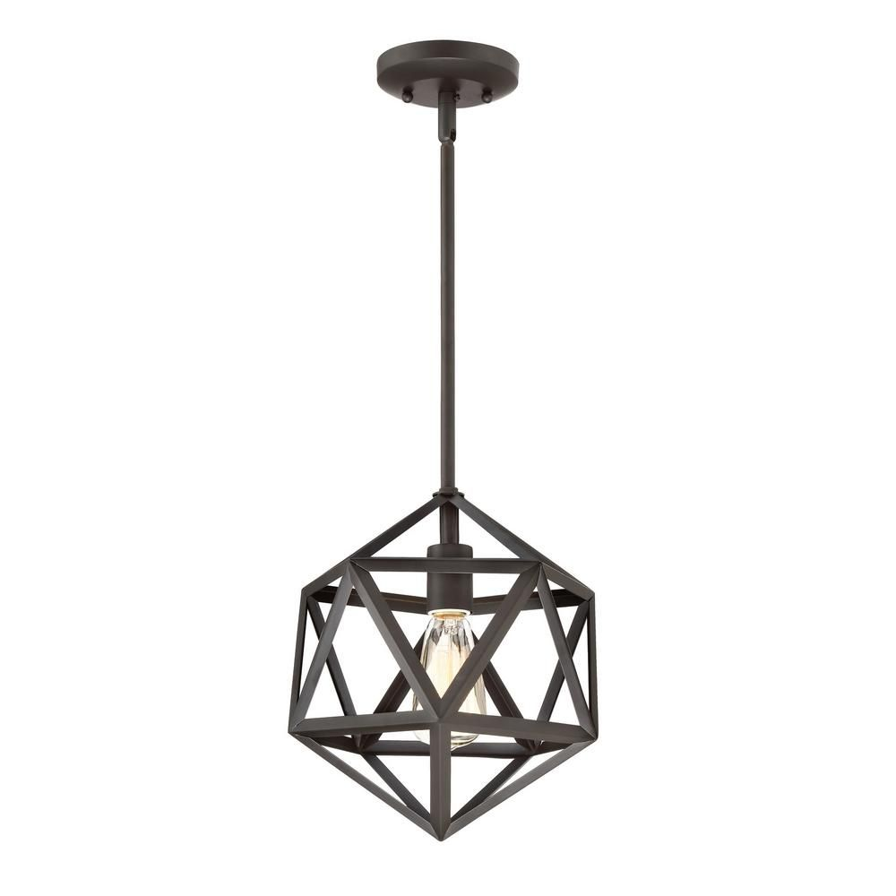 Home Decorators Collection 1 Light Oil Rubbed Bronze Mini Pendant
