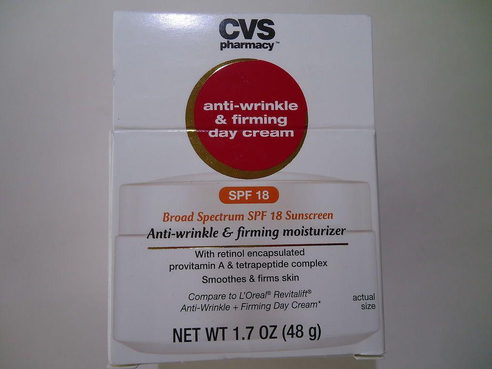 Cvs Anti Wrinkle Firming Day Cream Spf18 Cvspharmacy Anti