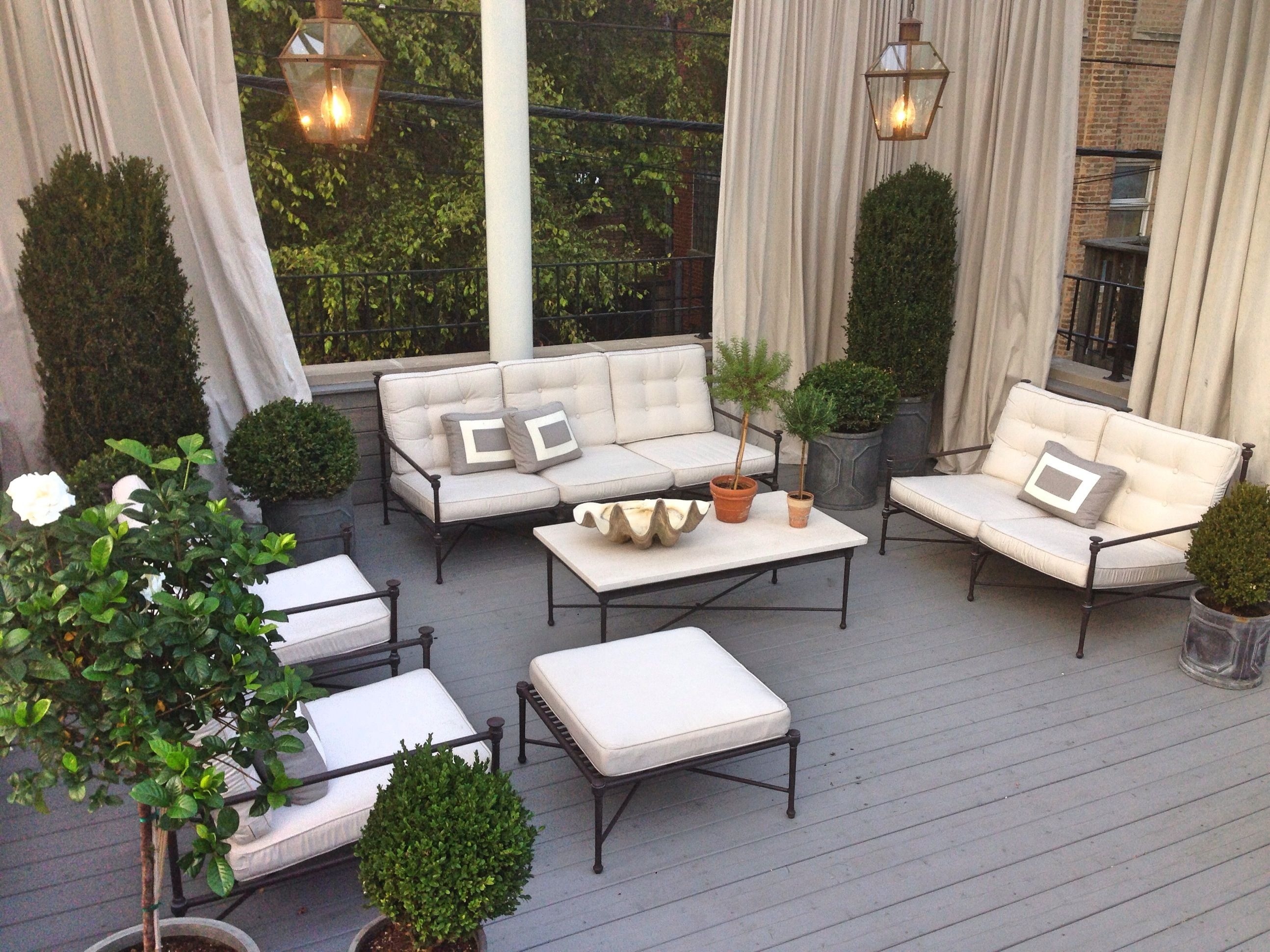Rooftop in Chicago Traditional concept Restoration Hardware