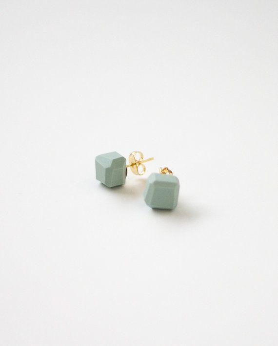A Merry Mishap Pale Blue Geo Earrings