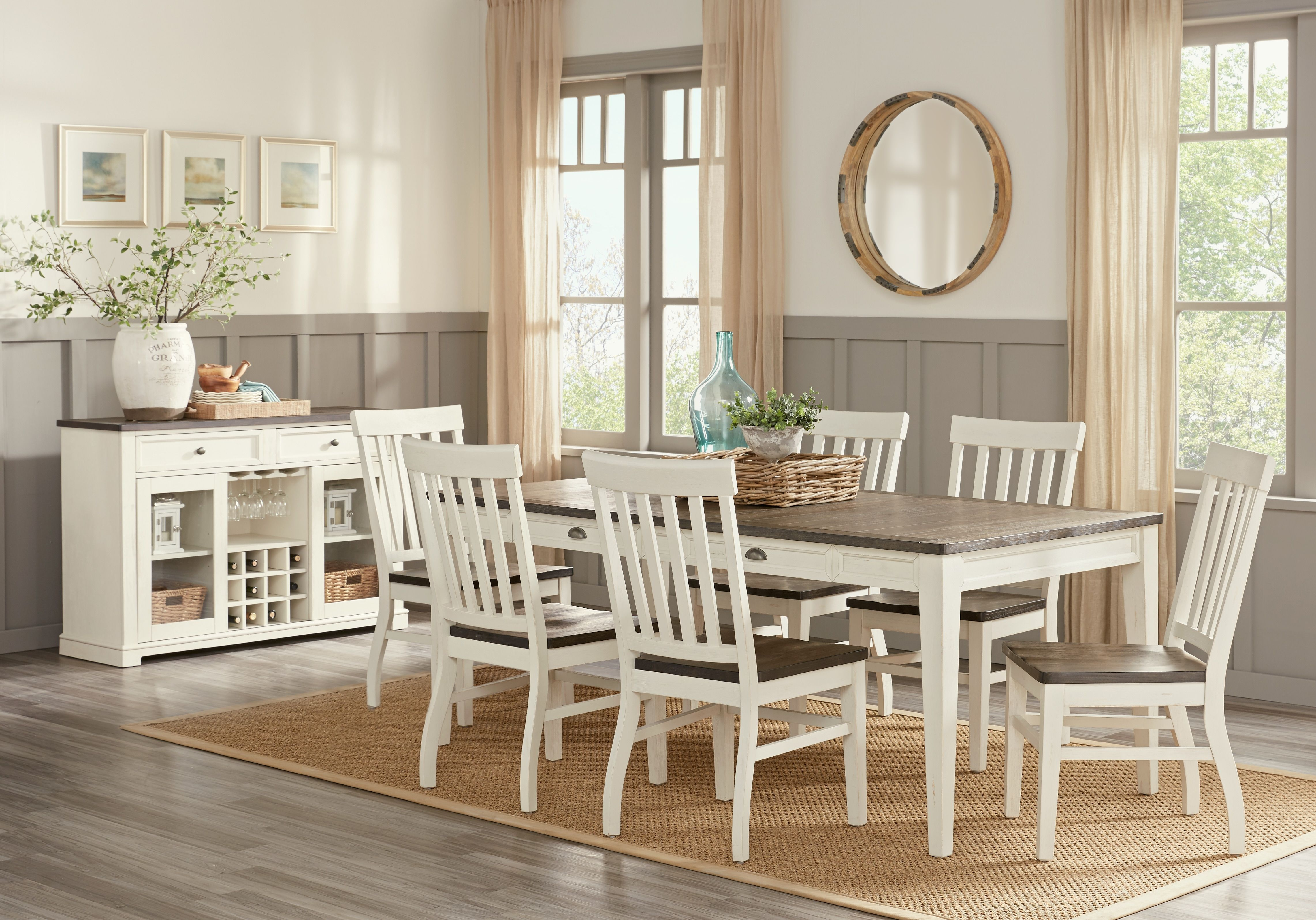 Keston White 5 Pc Rectangle Dining Room, Affordable Dining Room Sets