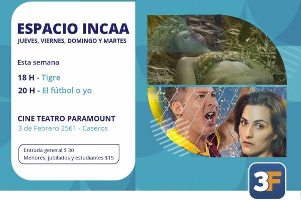 """Espacio INCAA: llegan """"Tigre"""" y """"El fútbol o yo"""""""