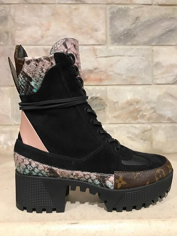 Bottes De Combat Désert, Python, Jeu De Chaussures, Chaussures En Cuir  Noires, 3f8dde9e3a9