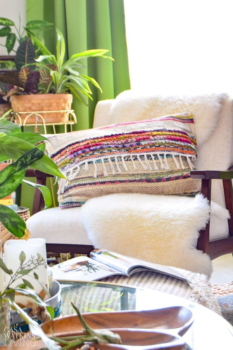 How to make a boho global style pillow with a chindi rug best of