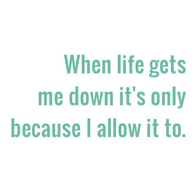 Holding myself accountable.