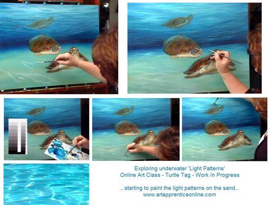 Sue Pruett Art Studio Art Acrylic Painting Techniques Animal Paintings