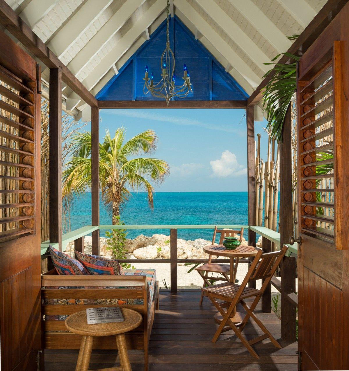 Beach Huts At Goldeneye Jamaica