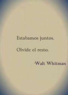 Walt Whitman Frases Diario De Una Pasion Buscar Con Google
