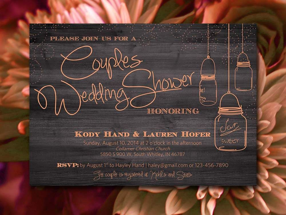 Couples Wedding Shower Invitations Templates Free Bridal - Couples wedding shower invitations templates free