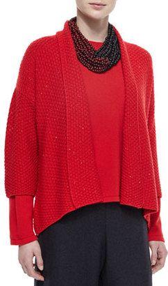 eskandar Cashmere/Silk 3/4-Sleeve Paillette Cardigan - Shop for women's Cardigan