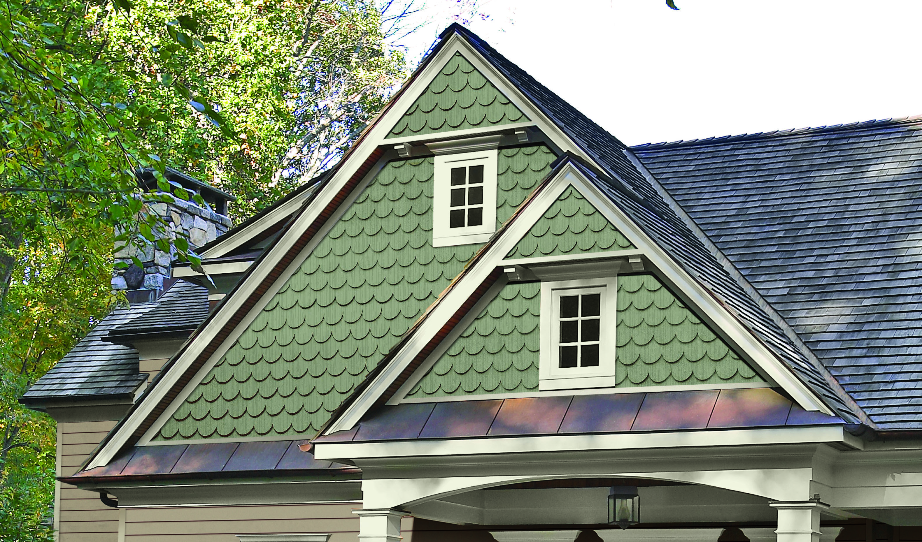Adding Texture With Scalloped Siding Shingle Siding Cottage Exterior Vinyl Siding