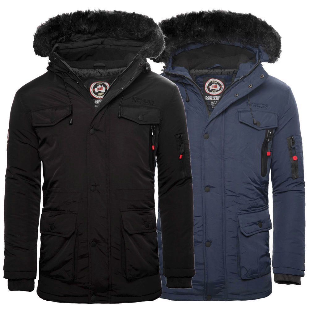 Geographical Norway Alos Herren Winter Jacke Parka Funktions