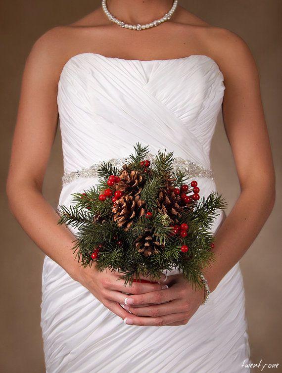 christmas wedding bouquet | Wedding Dresses Winter 2018 ...