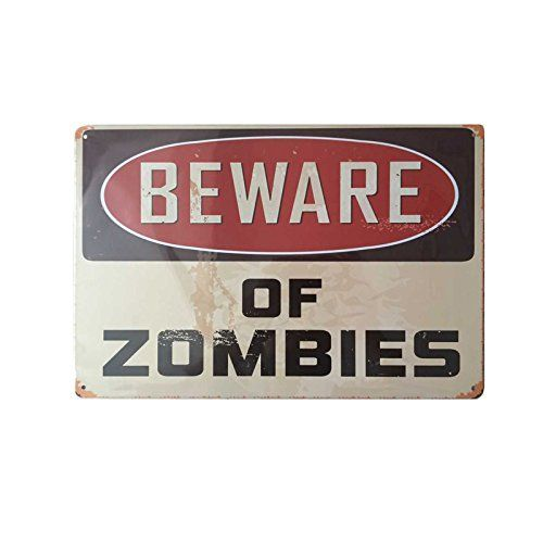 Metal Decorative Signs Brilliant Vintage Retro Wall Decor Tin Signsbeware Of Zombies Decorative Design Inspiration