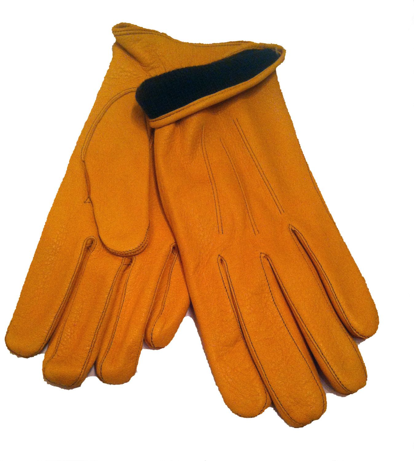 Handmade leather driving gloves - Deer Skin Leather Gloves For Men Driving Gloves Leather Gloves Drive