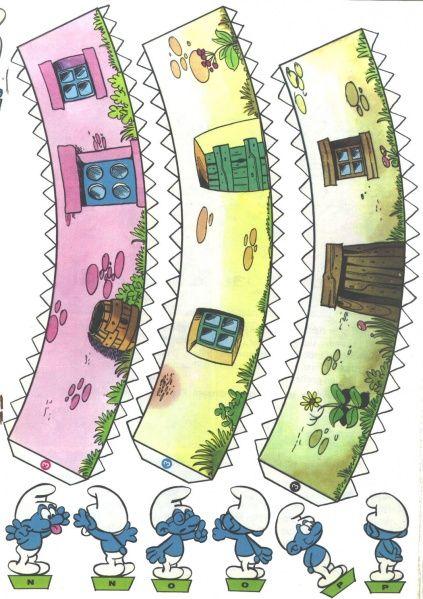 Pin by diana pratt on paper houses papier maisons en papier bricolage - Gabarit maison en carton ...