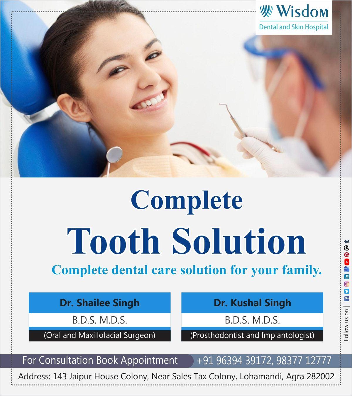 Complete tooth solution prosthodontist dental dental care