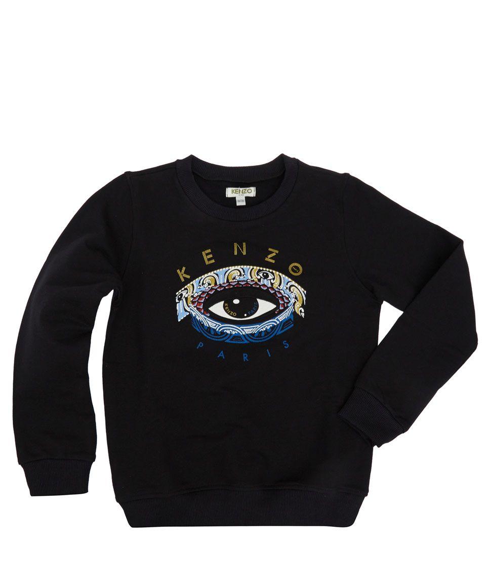 e487003c Kenzo Kids Age 6 to 12 Black Eye Cotton Sweatshirt   Kids   Liberty.co.uk