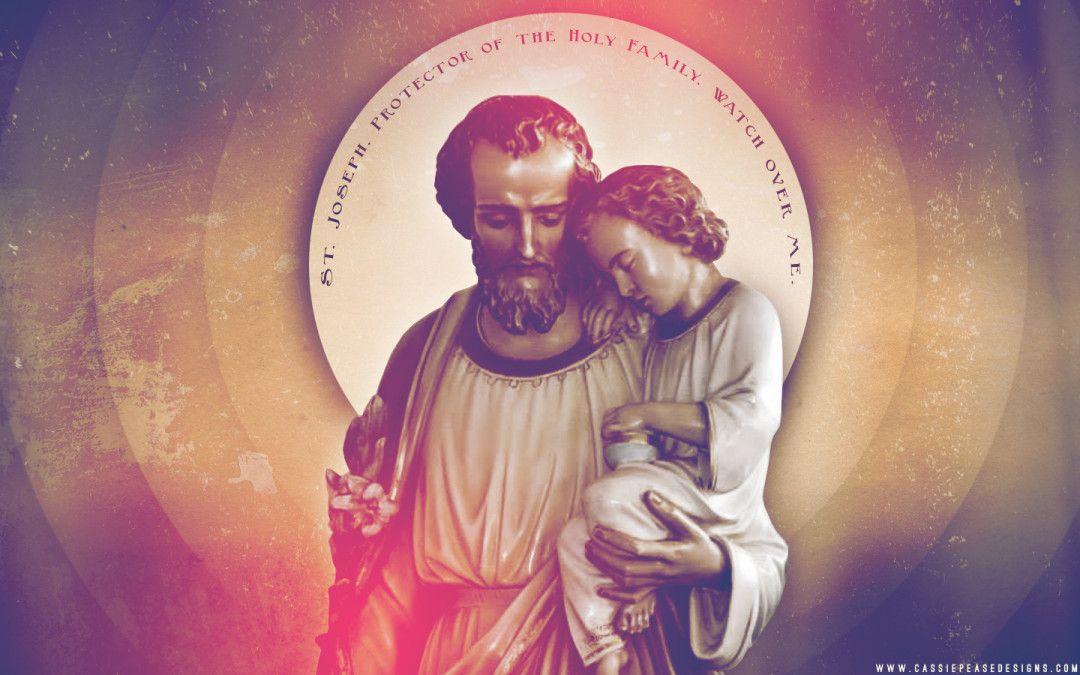 Saint Joseph Protector Desktop Wallpaper Patriarca San Jose Jose Padre De Jesus San Jose
