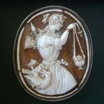 Rare Mythological Figural Antique Shell Cameo