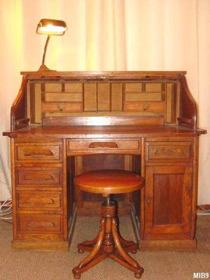 Bureau Americain A Cylindre 1940 Rideau Coulissant Bureau Decoration Interieure