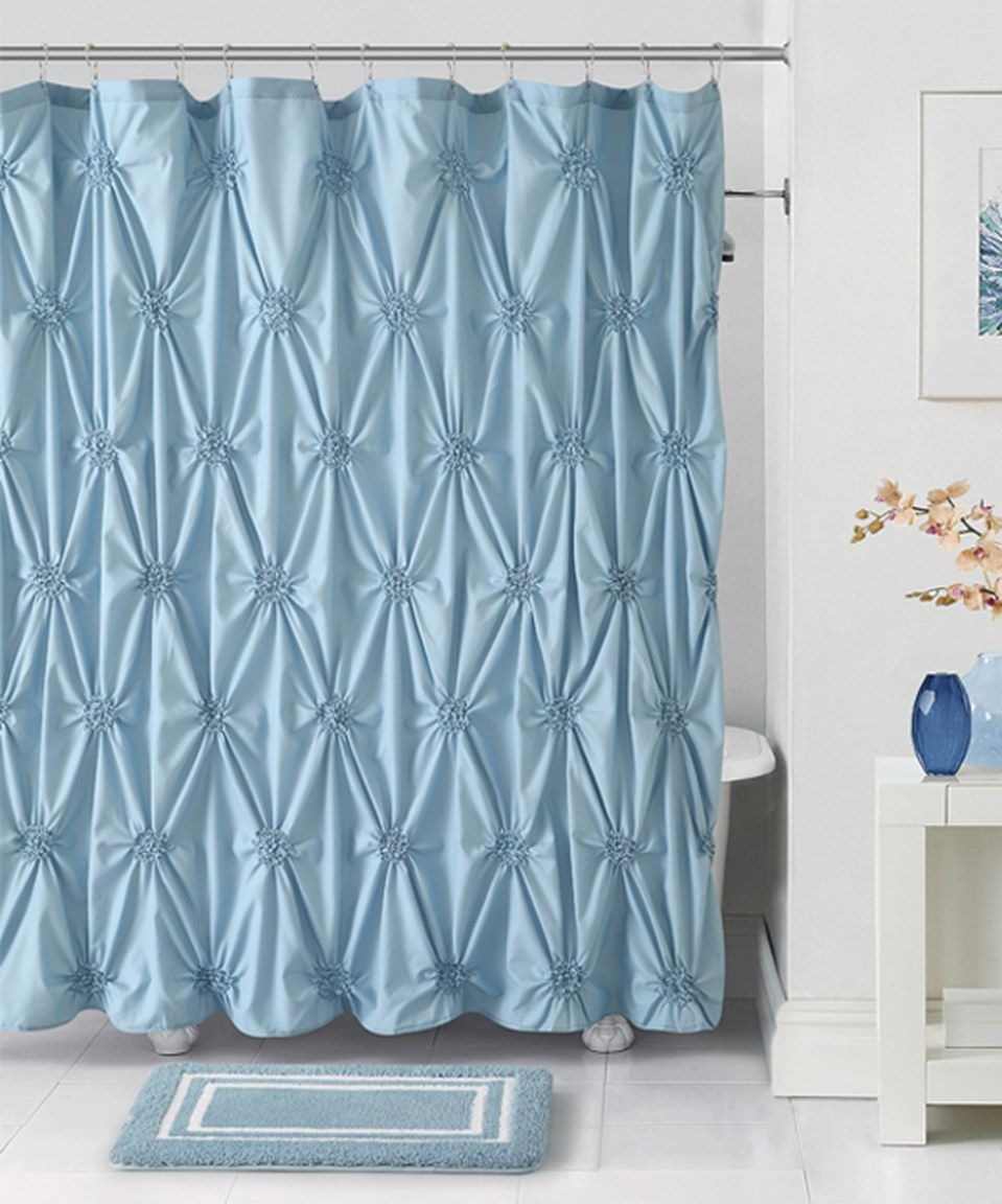 Look what I found on #zulily! Blue Fiona Shower Curtain, Hooks ...