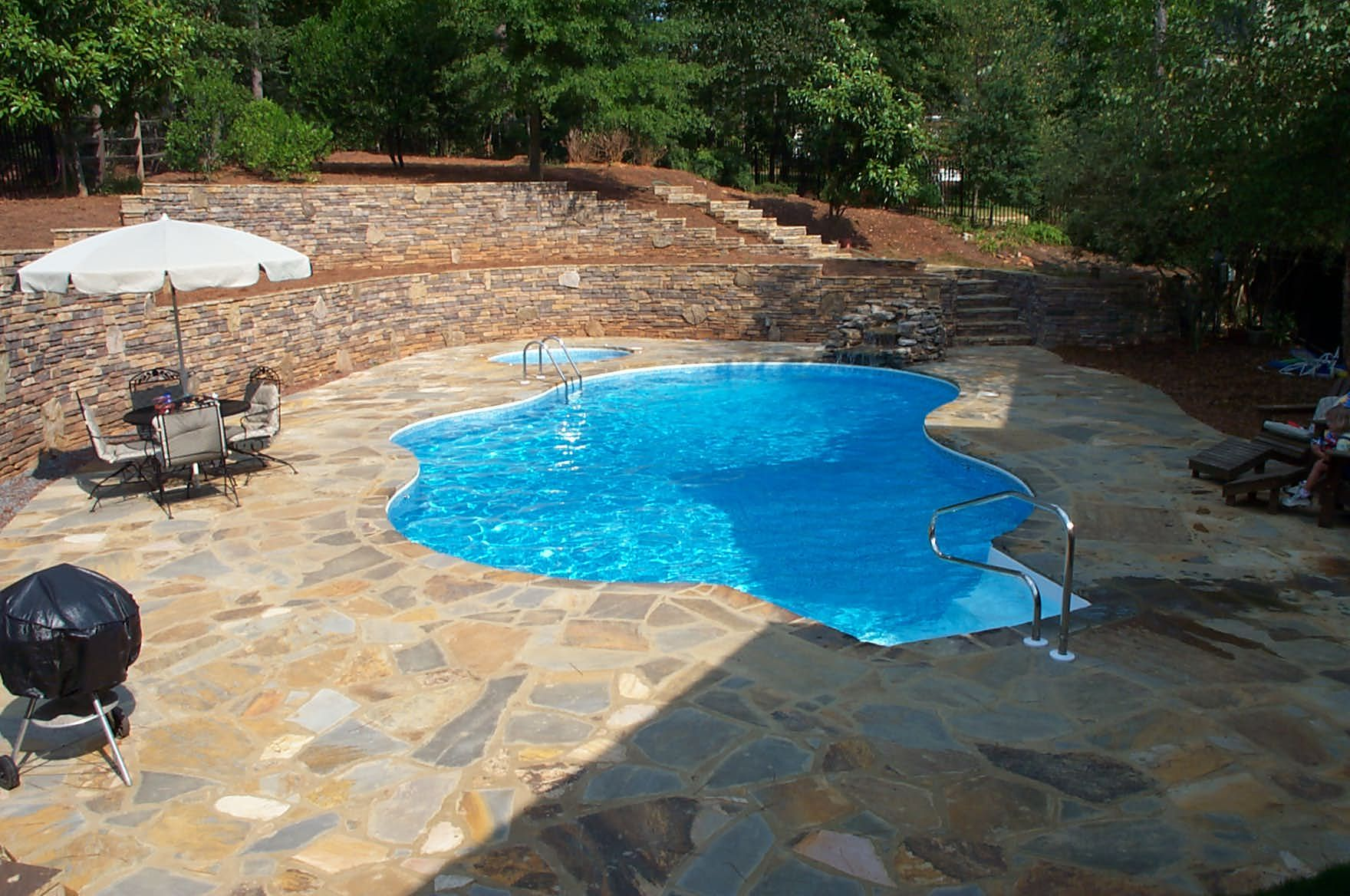 Brown S Pools Spas Gunite Pool Www Brownspools Com 770 942 0118 Www Facebook Com Brownspools Backyard Vacation Pool Swimming Pool Renovation