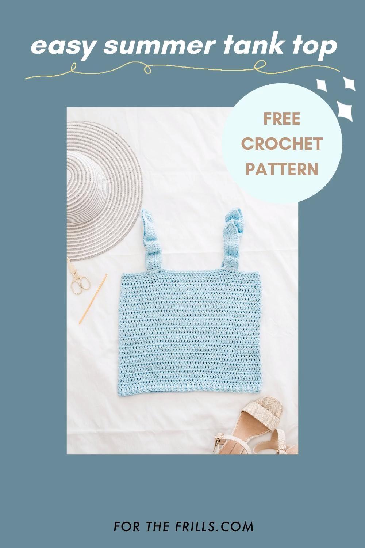 Photo of Beginner Crochet Tank Top – free pattern + video tutorial – summer DIY