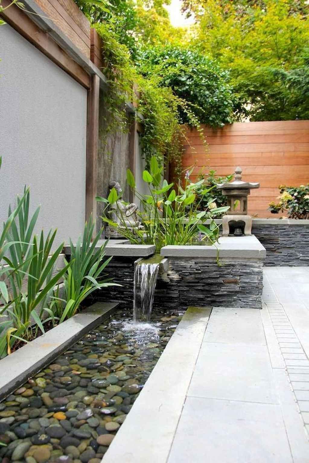 Cool 45 Best Modern Side Yard Landscaping Ideas For Garden Decor Design Source Link Decortut Water Features In The Garden Zen Garden Design Mini Zen Garden Modern backyard water feature ideas
