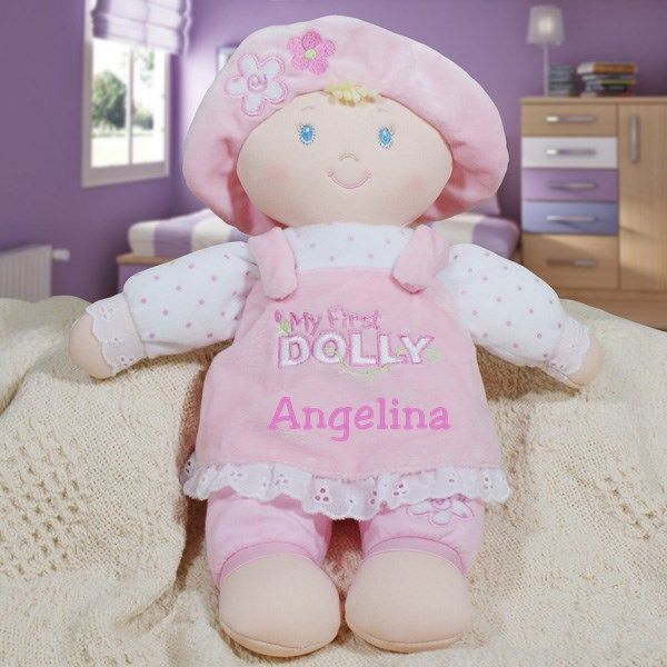 embroidered little darlings plush dolly kids stuff pinterest