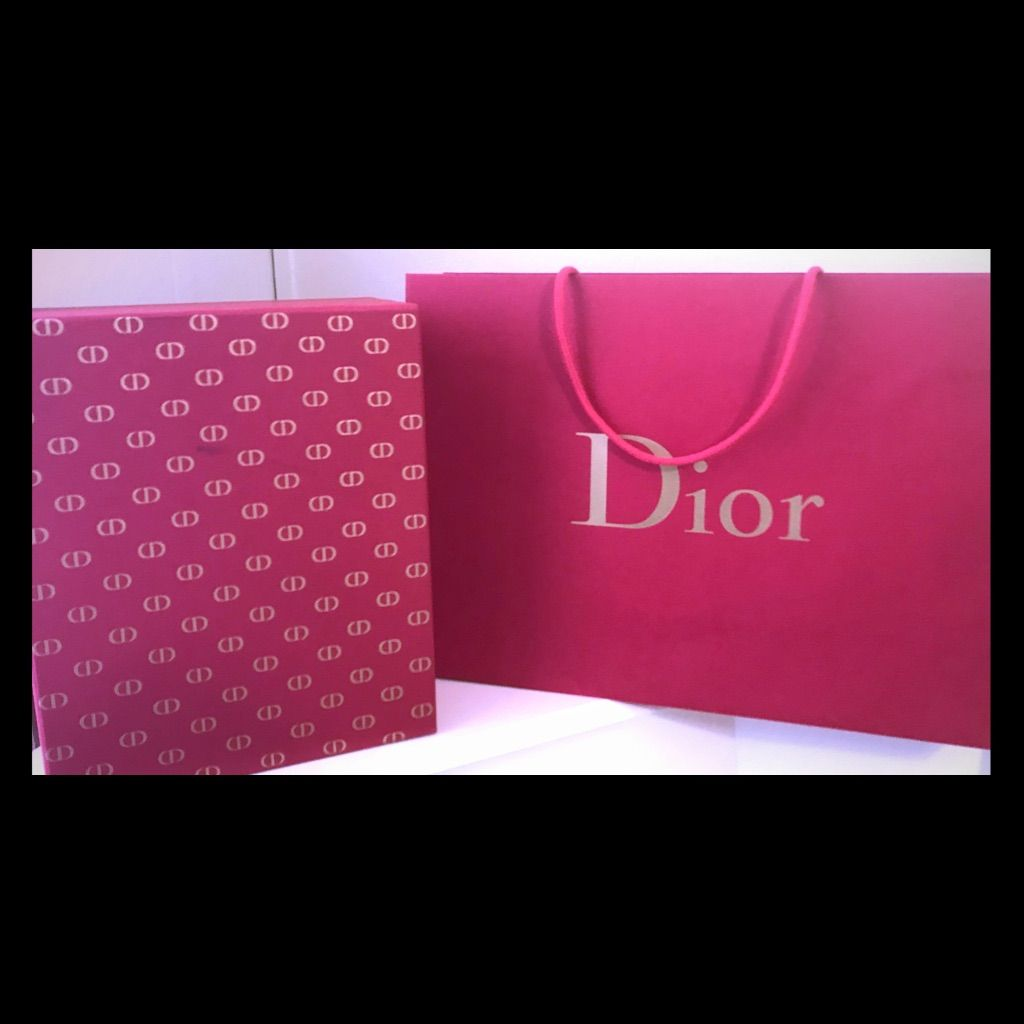 Red flannel backpack  Gorgeous Red Dior Box And Shopping Bag   Shopping bags and Products