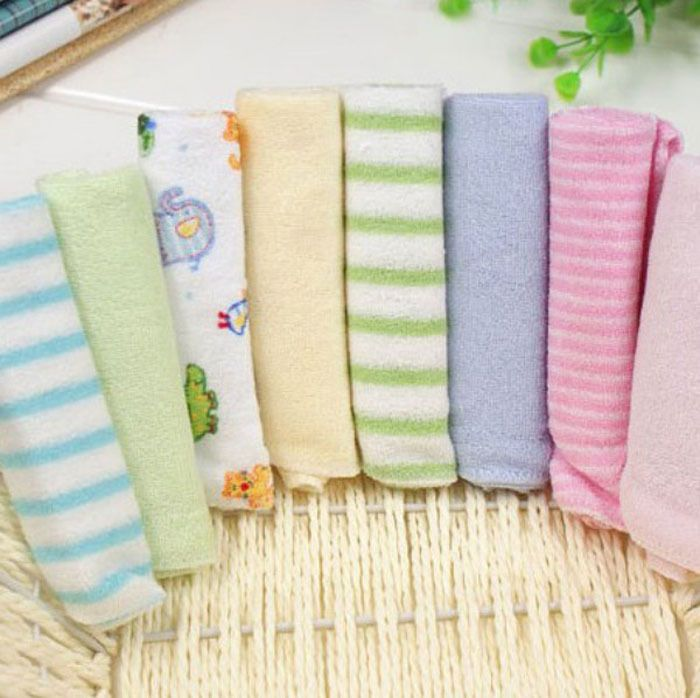 Single Small Square 8pcs Baby S Towels Feeding Towel Face Washers Hand Cotton Handkerchief