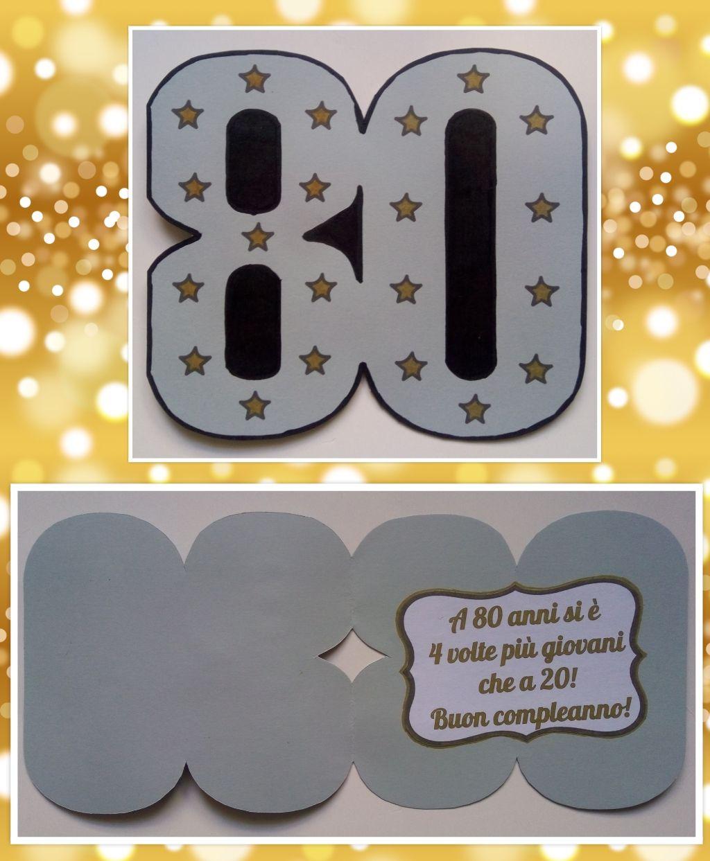 Biglietti Auguri Buon Compleanno 80 Anni.Biglietto Auguri Compleanno 80 Anni Numero Buon Compleanno