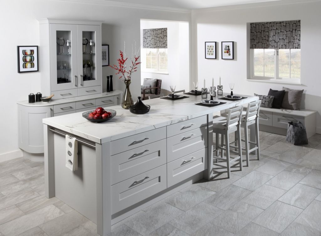 Best Burbidge S Stowe Kitchen In Matt Light Grey Dresser 400 x 300