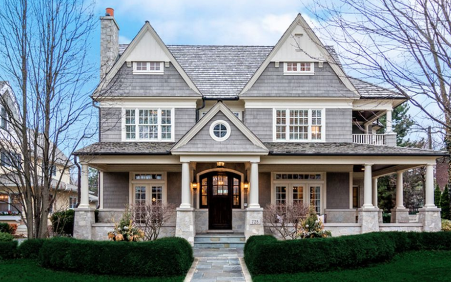 This Shingle Style Home Is Located At 728 S Washington Street In Hinsdale Illinois In 2020 Shingle Style Homes Shingle House Shingle House Plans