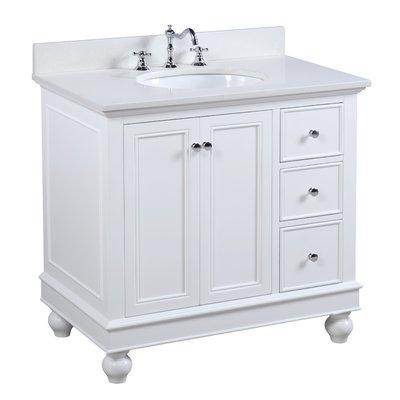 Kbc Bella 36 Single Bathroom Vanity Set Base Finish White Top Finish Quartz White Vanity Bathroom Bathroom Vanity Small Bathroom Storage