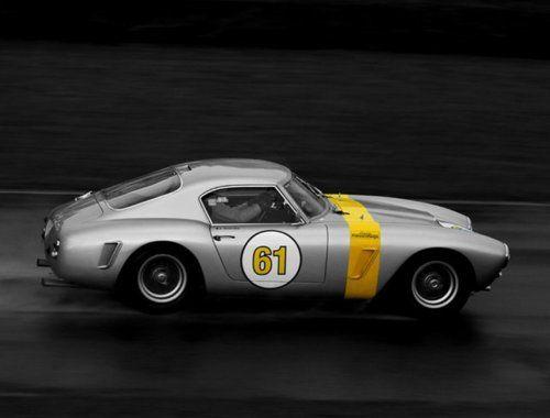 Yellow Stripe Sports Cars Luxury Ferrari Vintage Classic Racing Cars